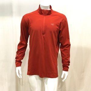 Arcteryx Men's Orange Half Zip Sweatshirt